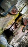 Détail en bois de porte photographie stock libre de droits