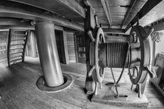 Détail en bois de roue de bateau de pirate Photo libre de droits