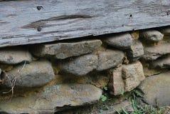 Détail en pierre et en bois Photographie stock