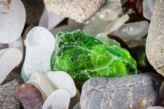 Détail en verre de mer Image stock