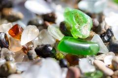 Détail en verre de mer Image libre de droits