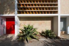 Détail extérieur de bâtiment de musée de Miro Photo libre de droits
