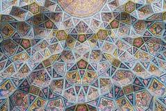Détail extérieur de la mosquée de Nasir al-Mulk à Chiraz, Iran images stock