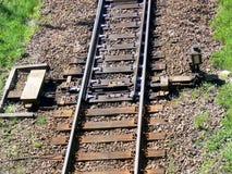 Détail ferroviaire de commutateur photo stock