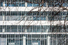 Détail fonctionnaliste de façade Images stock