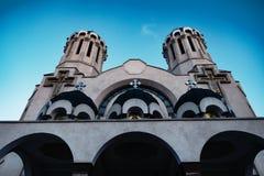 Détail germanique d'église de tour images libres de droits