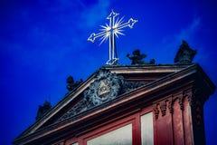 Détail germanique d'église des tours photographie stock libre de droits