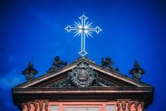 Détail germanique d'église des tours photos libres de droits