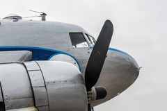 Détail historique d'avion de ligne Image stock