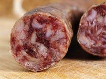 Détail ibérien espagnol de salami Photographie stock libre de droits