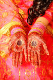 Détail indien de main de cérémonie de mariage photographie stock libre de droits