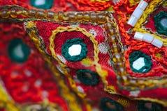 Détail indien de patchwork, métiers traditionnels photo stock