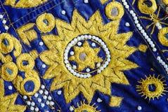 Détail indien de patchwork, métiers traditionnels photographie stock