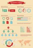 Détail infographic avec les figurines humaines Image stock
