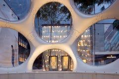 Détail intérieur de dôme de Buckminster Fuller dans le Midtown Miami Images stock
