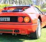Détail italien rouge de coin d'arrière de supercar Photos libres de droits