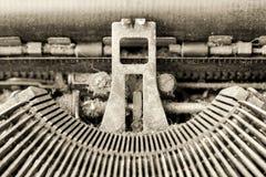 Détail mécanique de machine à écrire photo libre de droits
