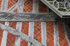 Détail médiéval de construction Images stock