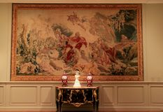 Détail magnifique dans l'illustration, les meubles antiques et des vases, Art Gallery commémoratif, Rochester, New York, 2018 images stock