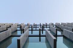 Détail moderne d'architecture, fenêtres, murs de verre Images libres de droits
