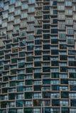 Détail moderne d'immeuble de bureaux, surface en verre photo stock