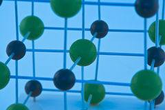 Détail-NaCl de molécule Photographie stock libre de droits