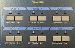 Détail numérique de synthétiseur de vintage Image libre de droits