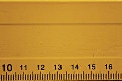 Détail orange de règle Photo libre de droits