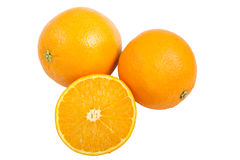 Oranges d'isolement Photo stock