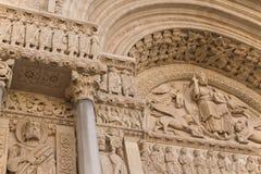 Détail portail de St Trophime (Arles, Frances) photographie stock libre de droits