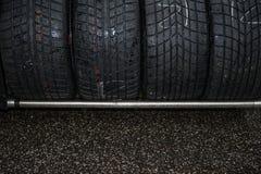 Détail réglé de emballage humide de sport automobile de pneu Photos stock