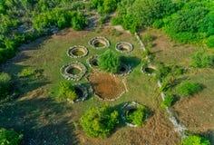 Détail romain de puits dans Rajcice près de fente image libre de droits