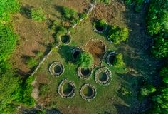 Détail romain de puits dans Rajcice près de fente photo stock