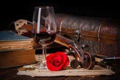 Détail romantique d'image avec le rouleau de violon Photo libre de droits
