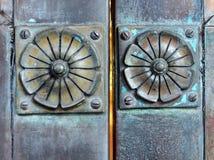 Détail, rosettes en bronze Photos libres de droits