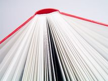 Détail rouge de livre Photos stock