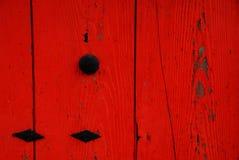 Détail rouge de mur Images stock