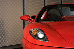 Détail rouge de voiture de sport Photographie stock libre de droits