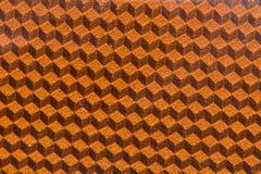 Détail se reflétant de panneau du cube 3d orange Photographie stock libre de droits