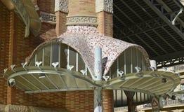 Détail sur l'architecture de centre commercial Valence, Espagne Images libres de droits