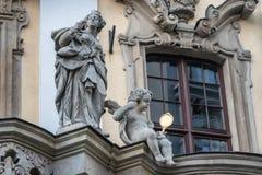 Détail sur la vieille université à Wroclaw image libre de droits