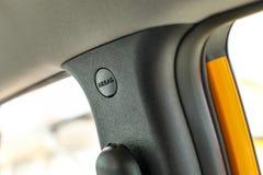 Détail sur le placement latéral d'unité d'airbag dans la voiture image libre de droits
