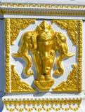 Détail sur un tombeau indien en dehors d'un restaurant indien à Vilamoura Image stock