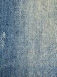 Détail utilisé de jeans photographie stock libre de droits