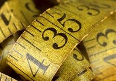 Vieux ruban métrique Photographie stock libre de droits
