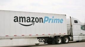 Détaillant global principal d'Amazone Images stock
