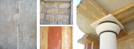 Détaille l'architecture de Knossos Photographie stock