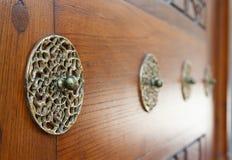 Détaille la porte de la mosquée de Suleymaniye Image stock