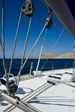 détaille le bateau à voiles Photographie stock