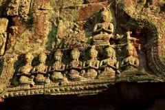 Détaillez merci rentré le temple de bal d'étudiants dans Agkor, Siem Reap, Cambodge photographie stock libre de droits